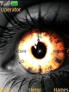 Swf Eye Clock Mobile Theme