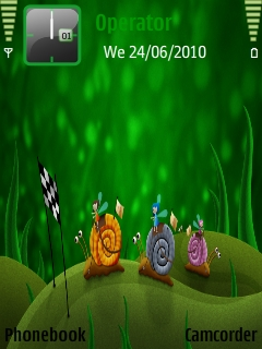 Snail_racing Mobile Theme