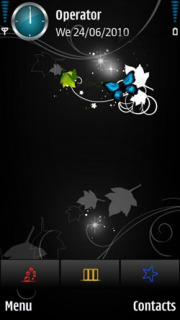 Butterfly Neon Mobile Theme