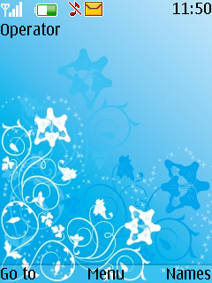 Floral Blue S40 Theme Mobile Theme