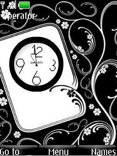 Flash Art Clock Mobile Theme