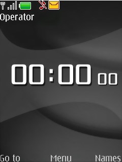 Black White Clock Mobile Theme