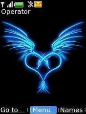 Blue Angel Heart Mobile Theme