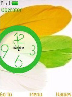 Flash Color Clock Mobile Theme