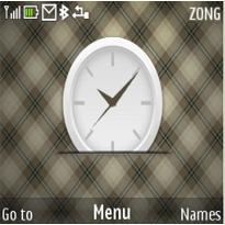 Pattern Clock Mobile Theme