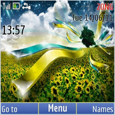 Sunflower Abstract Mobile Theme