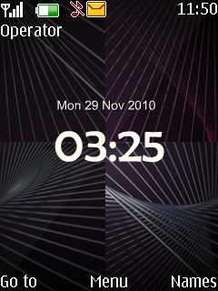 Black Sprial Mobile Theme