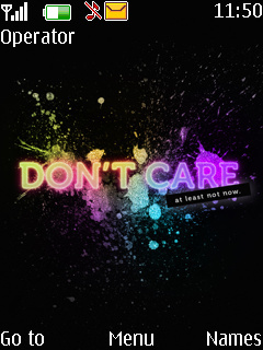 Dont Care Mobile Theme