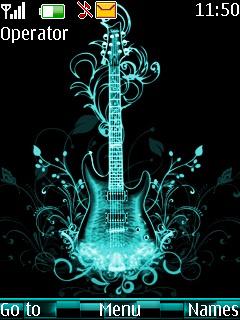 Abstract Guitar Mobile Theme
