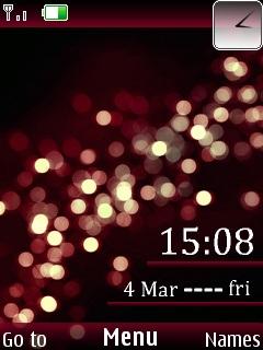 Elegant Orbs Clock Mobile Theme