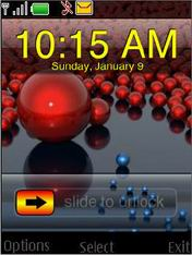 Balls Clock Mobile Theme