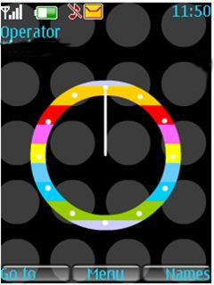Rianbow Clock Mobile Theme