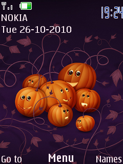 Pumpkins Mobile Theme