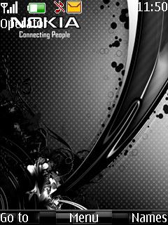 Black Nokia Mobile Theme