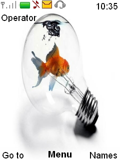 Fish On Bulb Mobile Theme