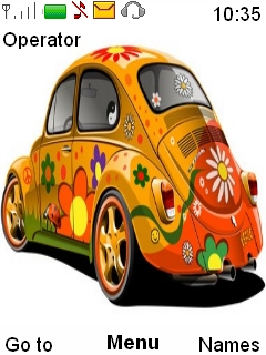 Colorful Flower Car Mobile Theme