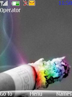 Cigarette Mobile Theme