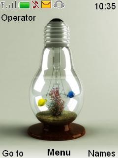 3D Bulb Mobile Theme