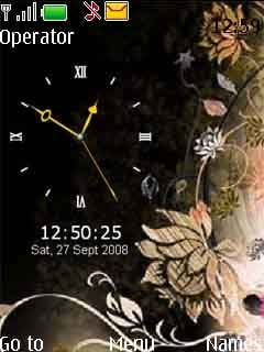 Lamour Yellow Clock Mobile Theme
