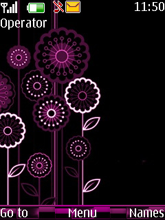 Pink Flower Mobile Theme
