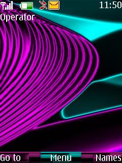 Luminous Lines Mobile Theme