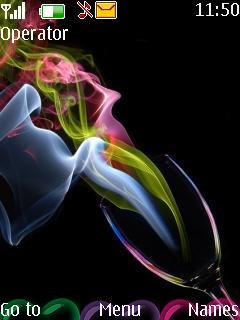Rianbow Smoke Mobile Theme