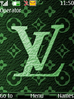 Green Louis Vuitton Mobile Theme