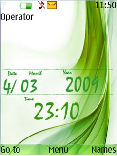 Green Abstract Mobile Theme