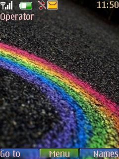 Rainbow Road Mobile Theme