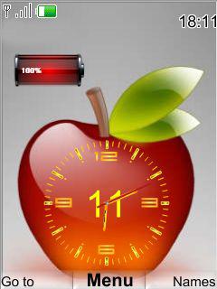 Apple Clock Mobile Theme