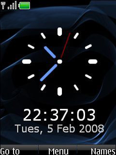 My Phone Clock Mobile Theme