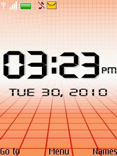Orange Abstract Clock Mobile Theme