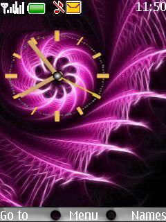 Fractal Clock Mobile Theme