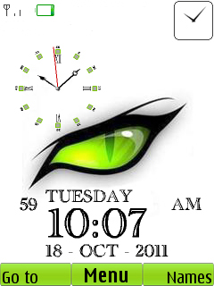 Eye Clock Mobile Theme