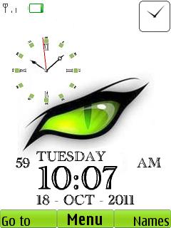 Eye Clock Mobile Theme