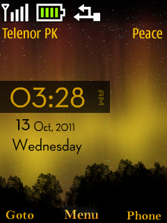 S40 Clock Mobile Theme
