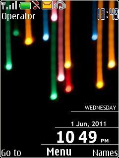 Colors Flash Lights Mobile Theme