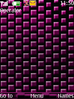 Pink Cubes Mobile Theme