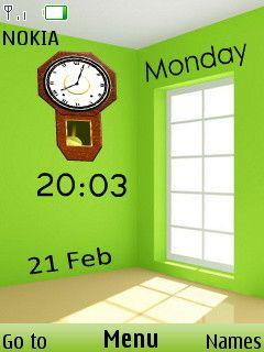 3D Wall Clock Mobile Theme