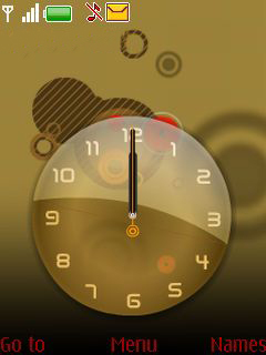 Bronze Clock Mobile Theme