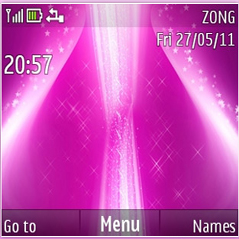 Violet Pink Stars Mobile Theme
