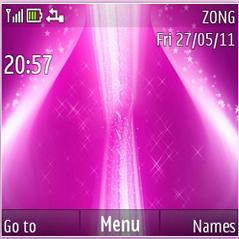 Violet Pink Stars Mobile Theme