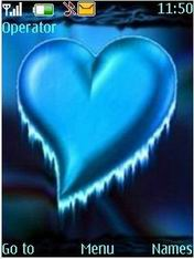 Blue Heart Mobile Theme