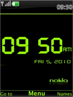 Clock Green Mobile Theme
