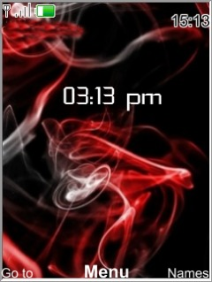 Red Smoke Mobile Theme