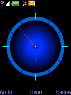 Blue Clock Mobile Theme