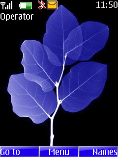 Blue Leaves Mobile Theme