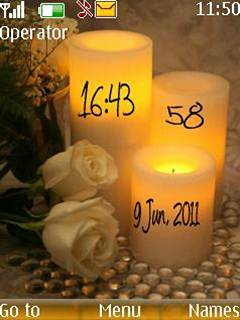 Candle Clock Mobile Theme