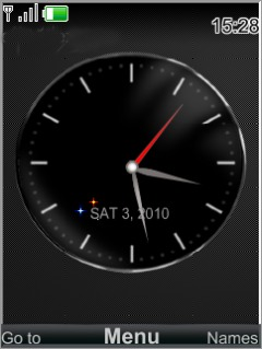 Swf Black Analog Mobile Theme