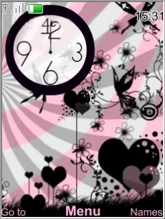 Swf Punk Clock Mobile Theme